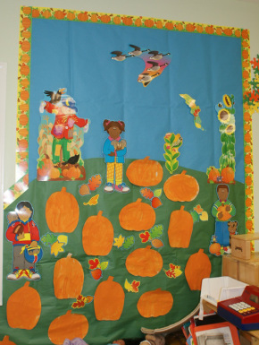Fall Decorating Ideas for Preschool http://www.crafts-for-preschool-kids.com/bulletin-boards-etc.html