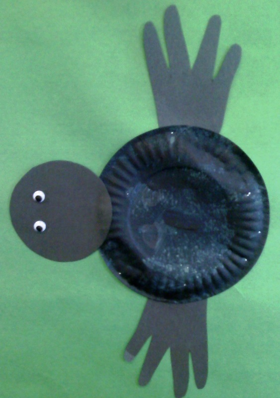 Paper Plate and Hand Spider
