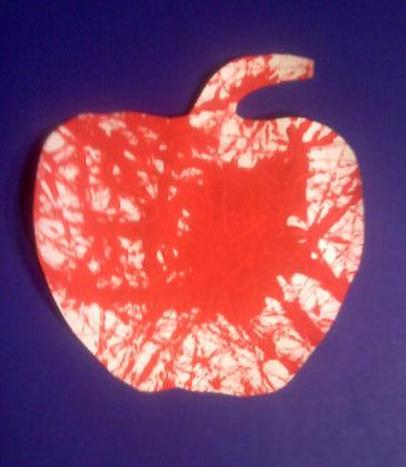 Apple Marble Painting