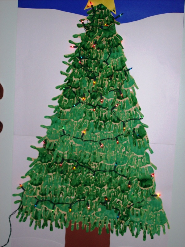 Large Hand Christmas Tree