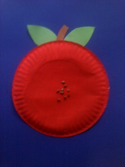 Paper Plate Apple